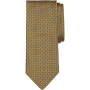 Brooks Brothers University of Michigan Gold Solid-Non-Solid Square Tie