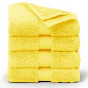 Brooks Brothers Yellow Supima Hydro Cotton Terry Washcloth