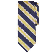 Brooks Brothers Navy/Yellow Double Framed Stripe Tie