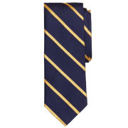 Brooks Brothers Navy Textured Bar Striped Tie