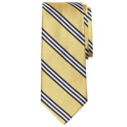 Brooks Brothers Navy/Gold/White Striped Rep #1 Tie