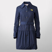Brooks Brothers Red Fleece University of Michigan Ladies Navy Poly Dress Coat