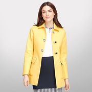 Brooks Brothers University of Michigan Ladies Yellow Cotton Jacket