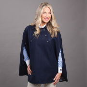 Brooks Brothers Red Fleece Women's Navy Wool-Blend Cape