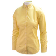 Brooks Brothers University of Michigan Women's Yellow with White Stripes Blouse