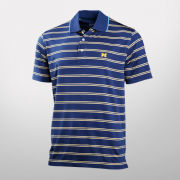 Brooks Brothers University of Michigan Performance Series Navy Double-Stripe Polo Shirt
