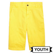 Brooks Brother University of Michigan Youth Yellow Washed Chino Shorts