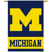 BSI Products University of Michigan Premium Two Sided House Flag