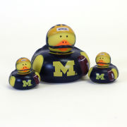 BSI University of Michigan 3 Pack ''All Star'' Rubber Ducks