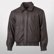 Canyon Outback University of Michigan Eagle Ridge Brown Leather Bomber Jacket