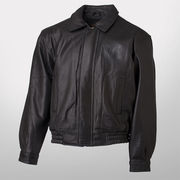 Canyon Outback University of Michigan Eagle Ridge Black Leather Bomber Jacket