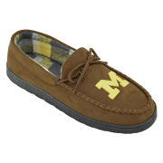 Campus Footnotes University of Michigan Brown Moccasin Slipper
