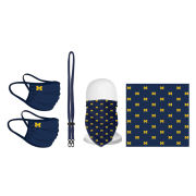 University of Michigan Campus Issued Mask/Bandanna/Mask Lanyard Combo Set
