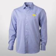 Cutter & Buck University of Michigan Navy Mini Herringbone Oxford Shirt