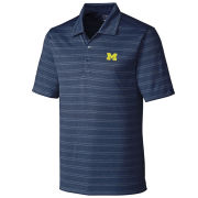 Cutter & Buck University of Michigan Melange Striped Polo Shirt