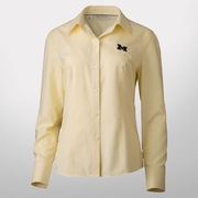 Cutter & Buck University of Michigan Ladies Yellow Nailshead Shirt