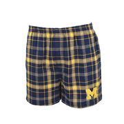 College Concepts University of Michigan Ultimate Flannel Boxer Shorts