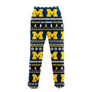 College Concepts University of Michigan Ugly Holiday Microfleece Sleep Pant