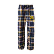 College Concepts University of Michigan ''Huddle'' Plaid Flannel Sleep Pant