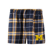 College Concepts University of Michigan ''Huddle Bleacher'' Flannel Boxer Shorts