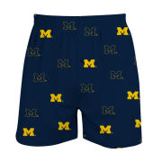 College Concepts University of Michigan Navy All-Over Print Boxer Shorts