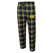 College Concepts University of Michigan Hillstone Plaid Flannel Sleep Pants