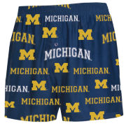 College Concepts University of Michigan ''Fairway'' All-Over Print Boxer Shorts