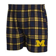 College Concepts University of Michigan Parkway Plaid Flannel Boxer Shorts