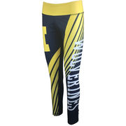 College Concepts University of Michigan Ladies Dynamic Sublimated Leggings