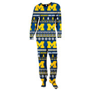 College Concepts University of Michigan Women's Ugly Holiday Onesie Union Suit