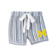 College Concepts University of Michigan Women's Striped Principle Sleep Shorts