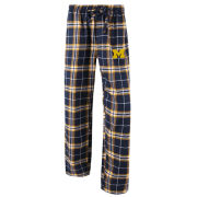 College Concepts University of Michigan Women's Plaid Flannel Sleep Pant