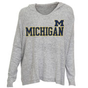 College Concepts University of Michigan Women's Gray Reprise Oversized Hooded Top