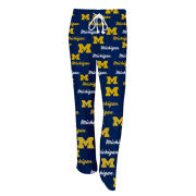 College Concepts University of Michigan Women's All-Over Sleep Pant