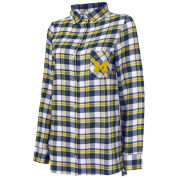 College Concepts University of Michigan Women's Peidmont Plaid Flannel Nightshirt