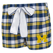 College Concepts University of Michigan Women's Piedmont Plaid Flannel Sleep Shorts