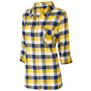College Concepts University of Michigan Women's Breakout Plaid Flannel Nightshirt