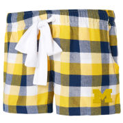 College Concepts University of Michigan Women's Breakout Plaid Flannel Sleep Shorts