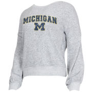 College Concepts University of Michigan Women's Gray Venture Crewneck Sweatshirt