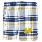 College Concepts University of Michigan Women's Accolade Plaid Flannel Shorts