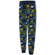 College Concepts University of Michigan Women's Flagship All Over Print Lounge Pant