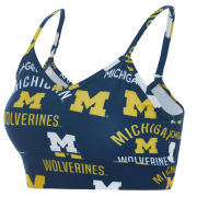 College Concepts University of Michigan Women's Navy Flagship Knit Bralette