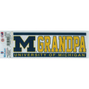 WinCraft University of Michigan Grandpa Static Cling Decal