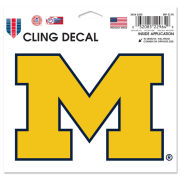 WinCraft University of Michigan Yellow Block ''M'' Static Cling Decal