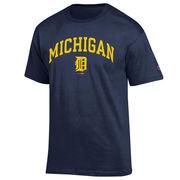 Champion University of Michigan/ Detroit Tigers Olde English 'D' Navy Tee