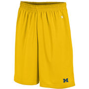 Champion University of Michigan Yellow Mesh Shorts