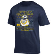 Champion University of Michigan Star Wars BB-8 Navy Tee