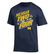Champion University of Michigan Basketball and Hockey Final Four/ Frozen Four Tee