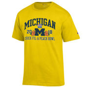Champion University of Michigan Football Peach Bowl Yellow Tee