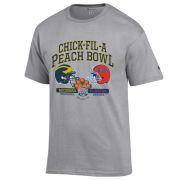 Champion University of Michigan Football Peach Bowl Gray Two-Team Tee